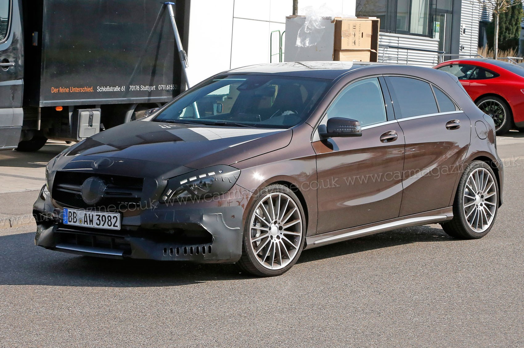 mercedes a45 amg 2015 power boost for merc s superhatch by car magazine. Black Bedroom Furniture Sets. Home Design Ideas