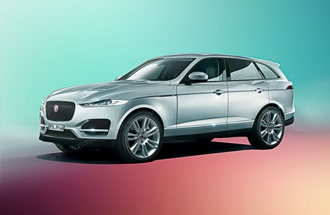 Jaguar F-Pace artist's impression by CAR magazine