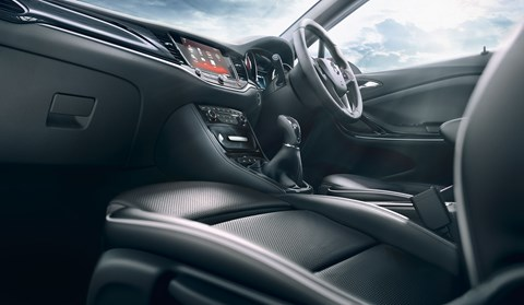 Interior of new 2015 Vauxhall/Opel Astra