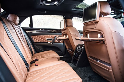 The all-important rear seats: here's the Bentley's rear pews