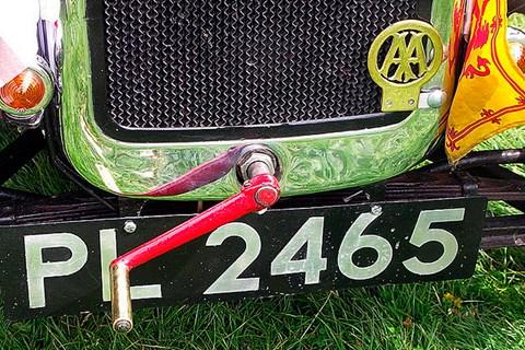 Car starter handle