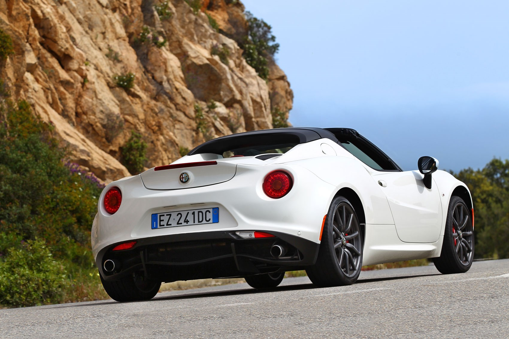 alfa romeo 4c spider 2015 review by car magazine. Black Bedroom Furniture Sets. Home Design Ideas