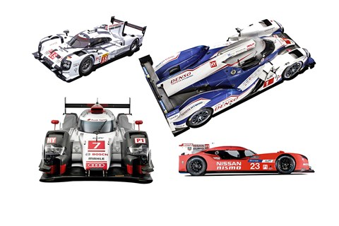 Le Mans 2015 factory LMP1 cars