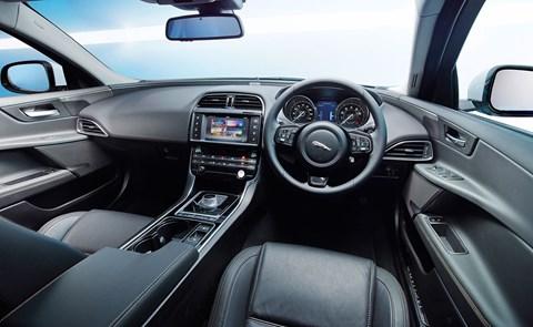 Inside the Jaguar XE cabin