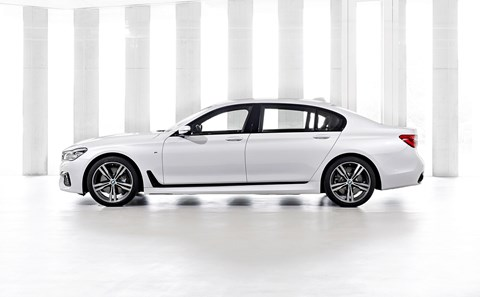 BMW 7-series in side profile