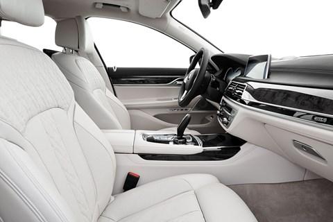 Inside BMW 7-series cabin