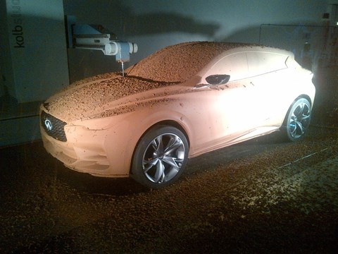 Clay model for Infiniti Q30 we spied at London design studio