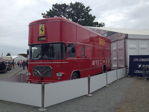 Maranello's historic transporter