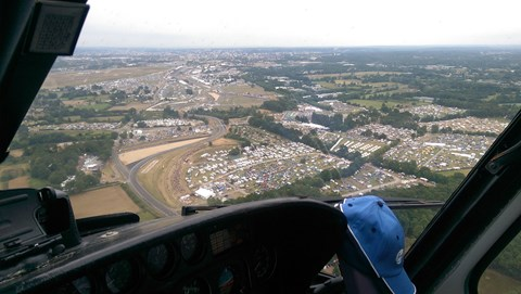 Le Mans from the air