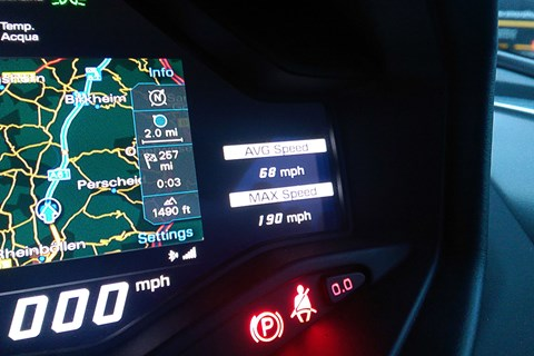 Lamborghini Huracan speed readout