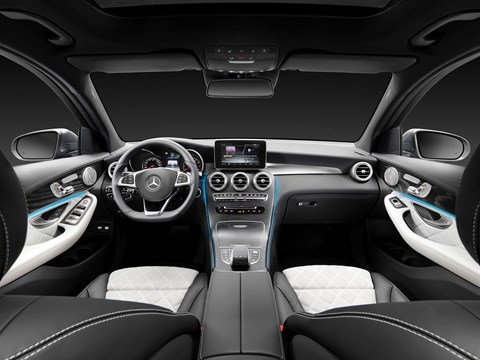 Inside the cabin of new 2015 Mercedes-Benz GLC