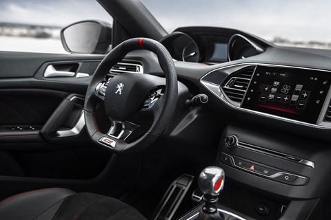 Inside the 308 GTI's cabin