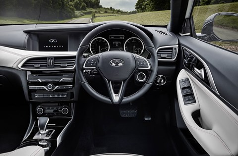 Inside the Q30's cabin: rather more A-class visible