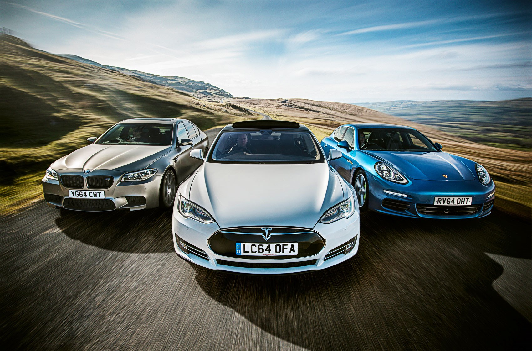 Tesla Model S Vs Bmw M5 Vs Porsche Panamera Triple Test