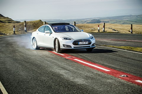 Tesla Model S can go sideways, as Charlie Magee's photos confirm