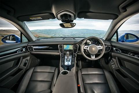Inside the Porsche Panamera's cabin