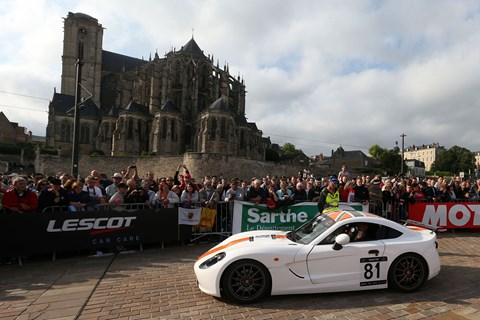 Ginetta in Le Mans drivers' parade, 2015. Photo by Jakob Ebrey