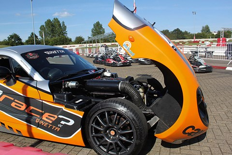 CAR magazine's Ginetta G40 at Daytona kart circuit