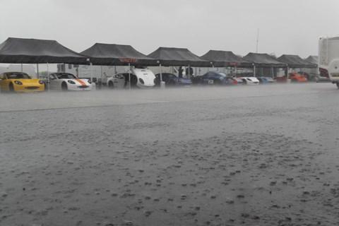 'Ginetta Village' in the Silverstone paddock