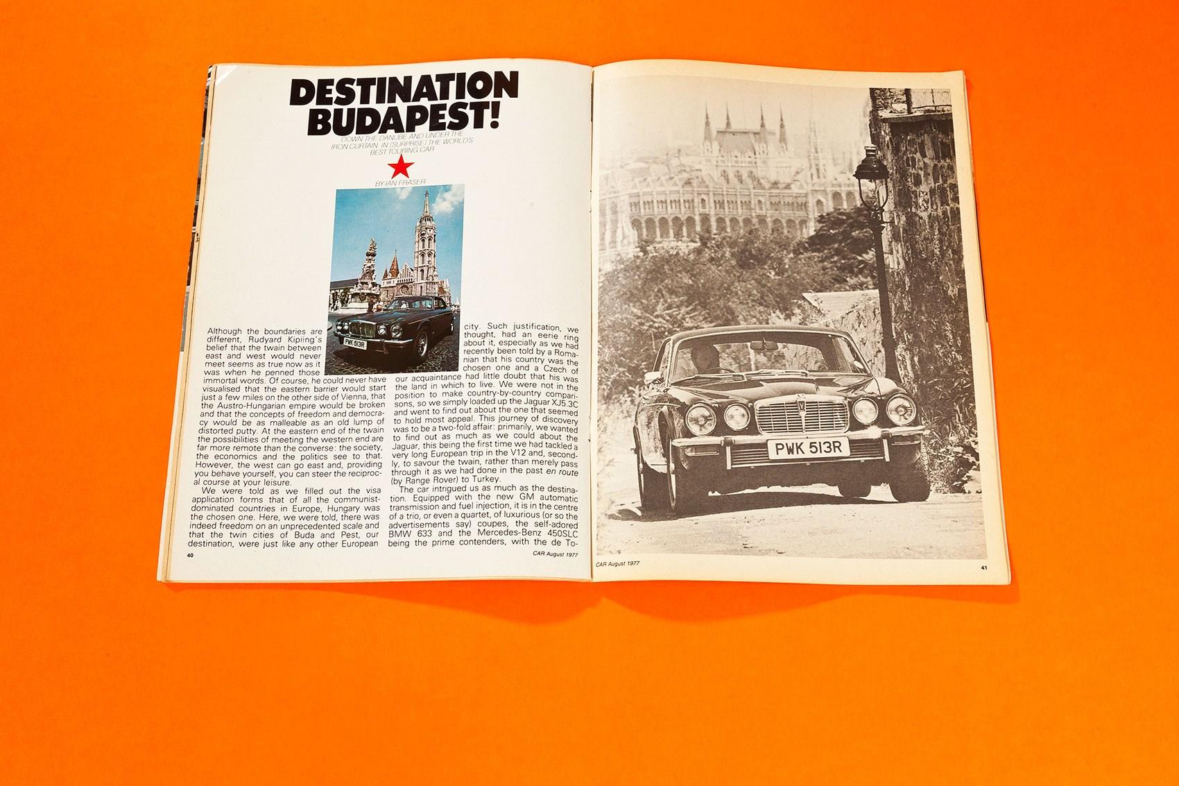 Destination Budapest: driving a Jaguar XJC down the Danube: CAR+