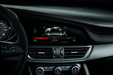 Touchscreen in new Alfa Romeo Giulia