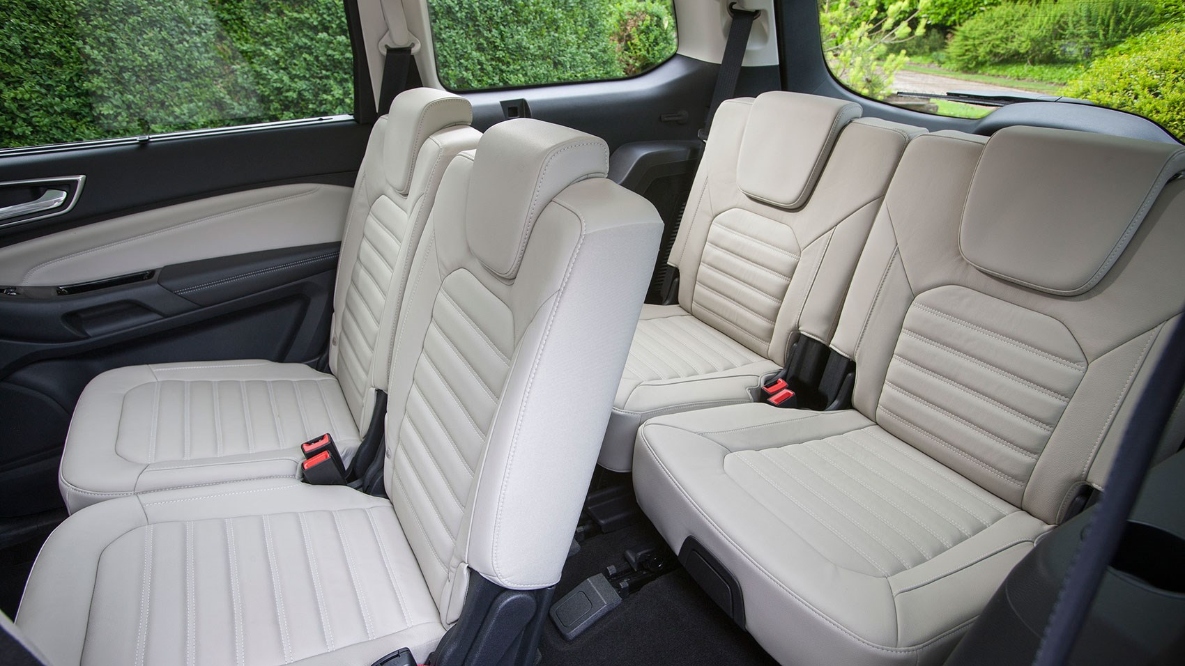 rows two and three of new ford galaxy typically roomy