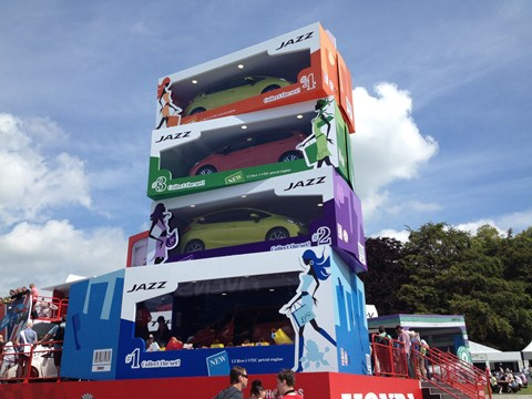 The Honda stand at Goodwood 2015