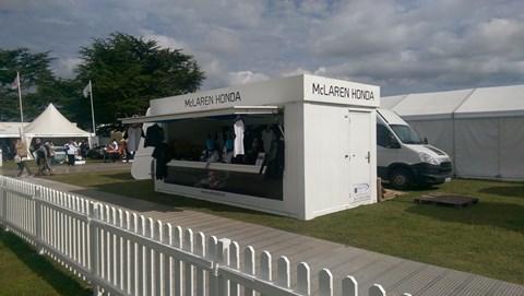 McLaren Honda merchandise stall... deserted