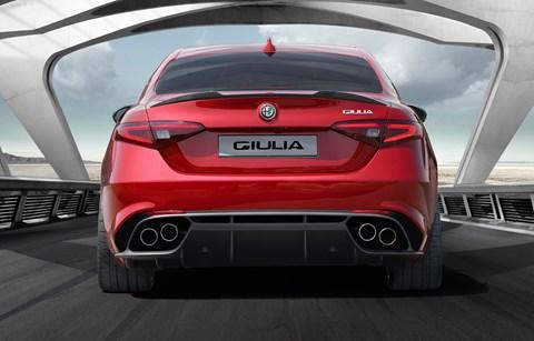 The rear of the new Alfa Romeo Giulia