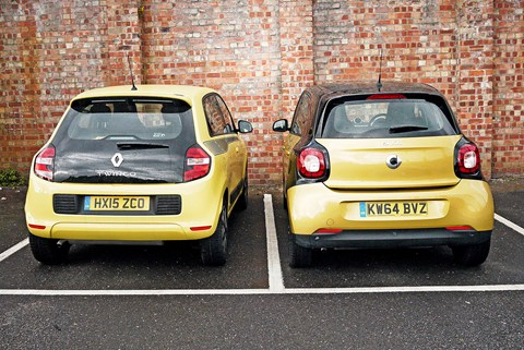 Renault Twingo and Smart ForFour