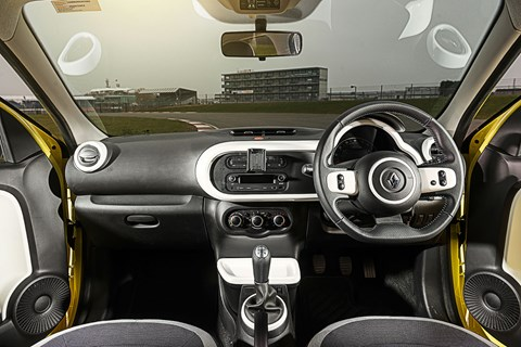 Inside the 2016 Renault Twingo cabin