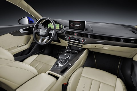 Cabin of new Audi A4