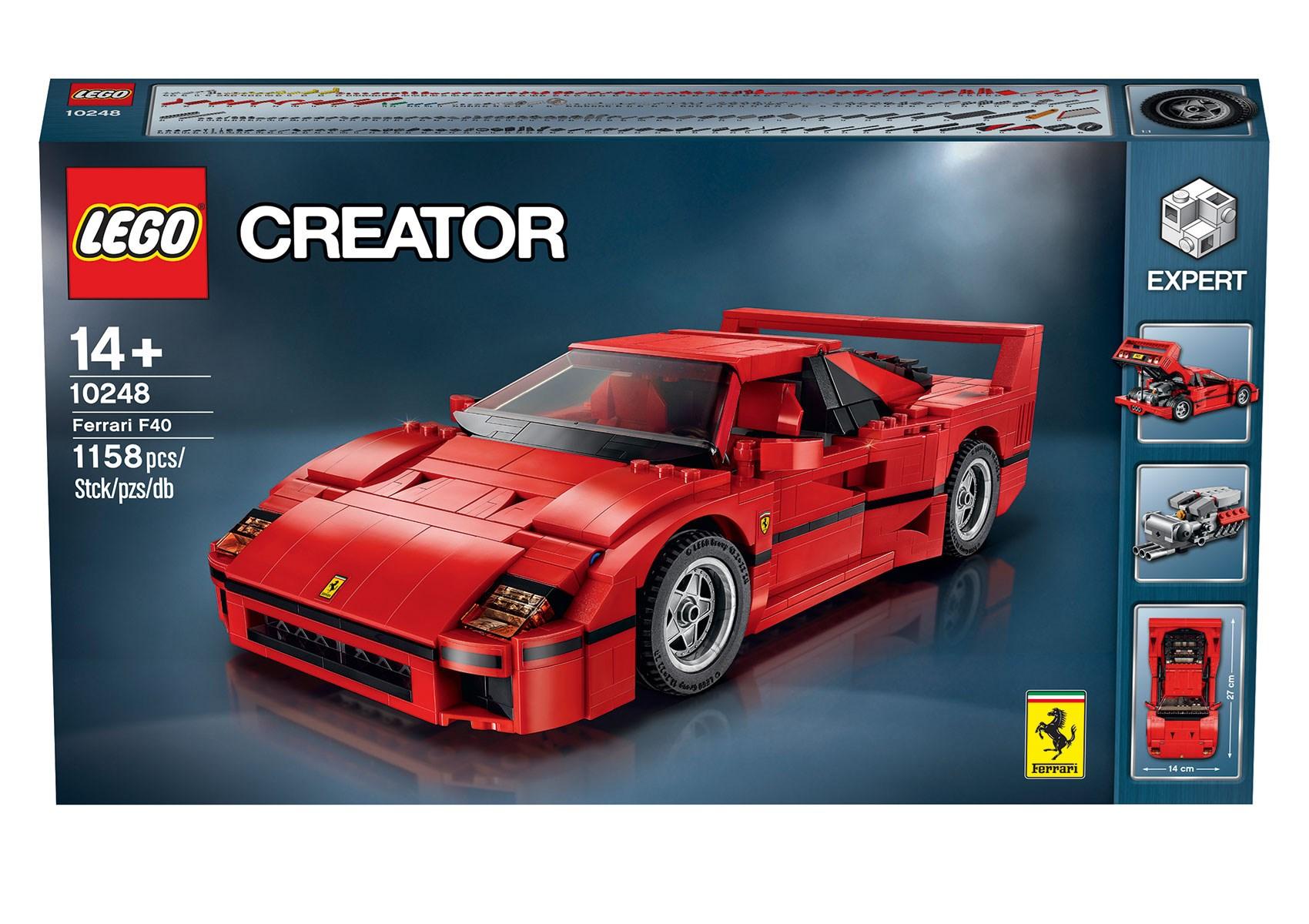 Lego Ferrari F40 Announced Iconic 1987 Supercar S