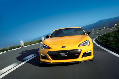 The Subaru BRZ tS comes complete with new under-spoiler and STI styling
