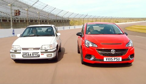 1990 Vauxhall Astra GTE vs 2015 Vauxhall Corsa VXR