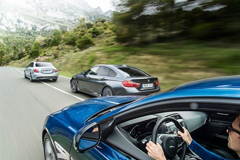 Jaguar XE vs BMW 4-series vs C-class photographed for CAR by Jamie LIpman