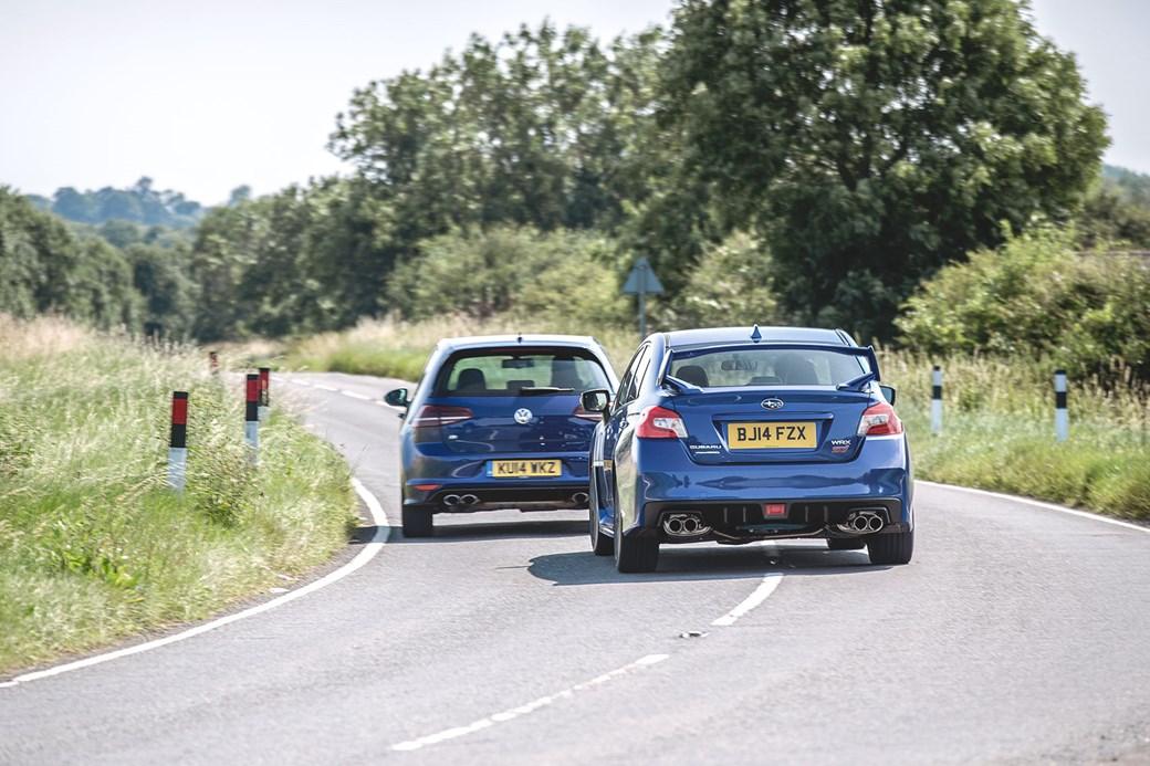 Vw Golf R Vs Subaru Impreza Wrx Sti Shot For Car By Mark Riccioni