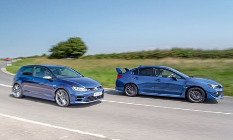 Two performance bargains, both with 296bhp, 4wd. But there the similarities end...
