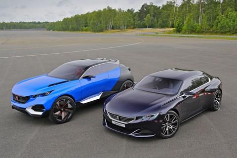 Peugeot Quartz and Exalt concepts