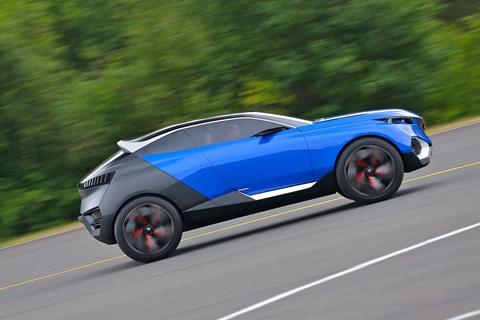 Peugeot Quartz concept has changed colour since its Paris debut