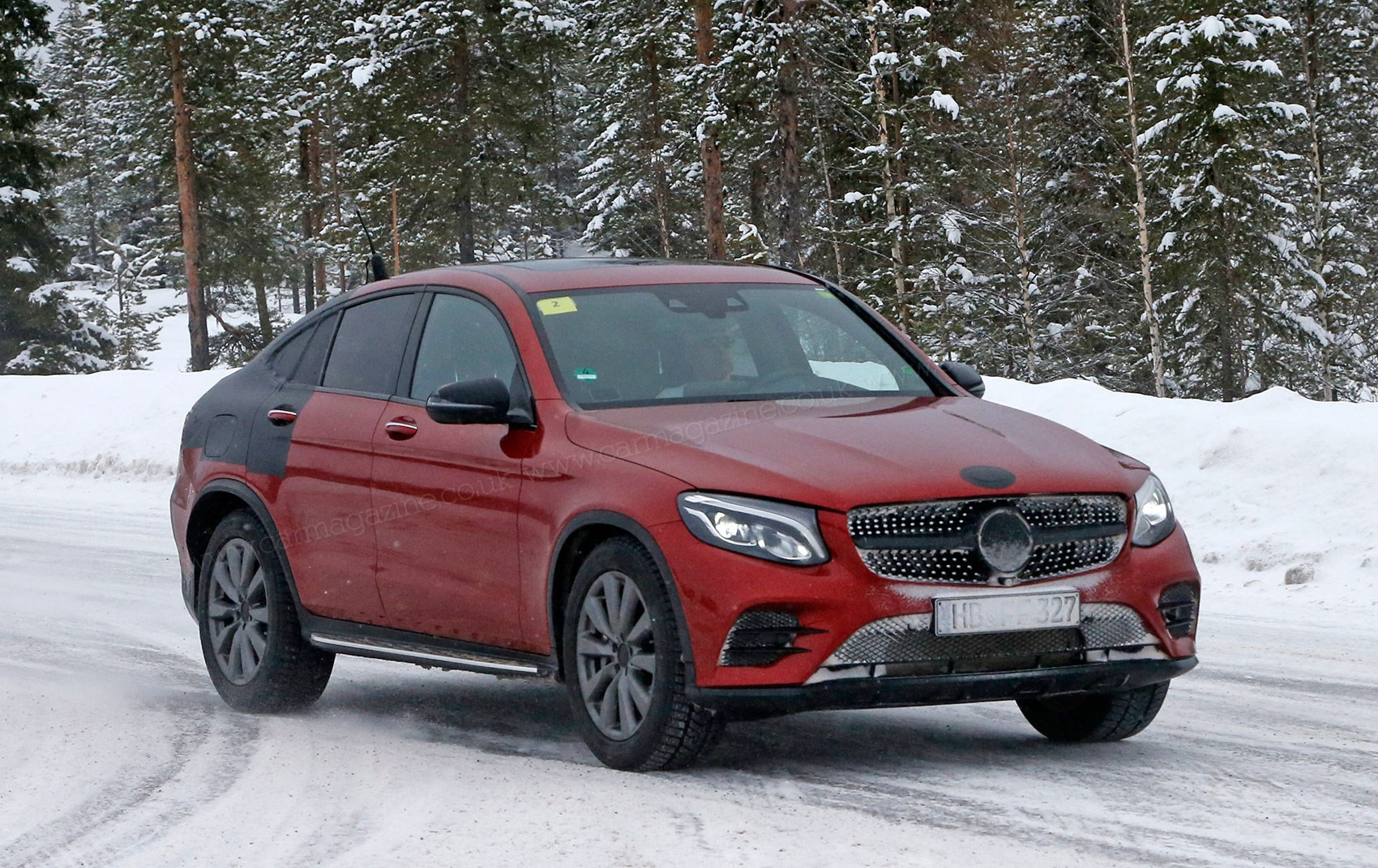 The New Mercedes Glc Coupe Caught On Test