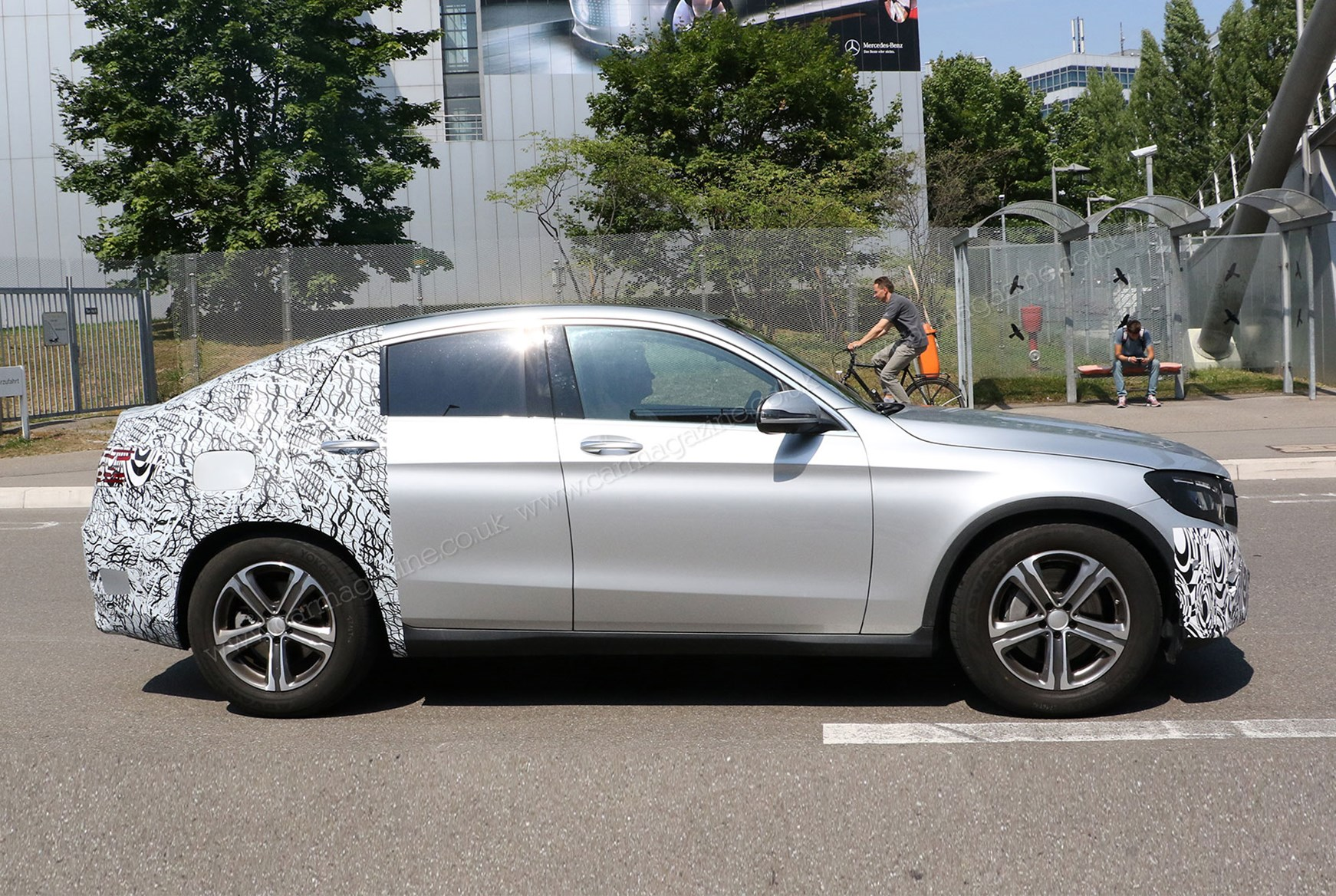 Mercedes Glc Coupe 2016 Spied Once More Merc S Going X4 Chasing