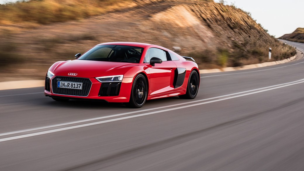 The all-new, 2015 Audi R8 gets V10 power from the get-go