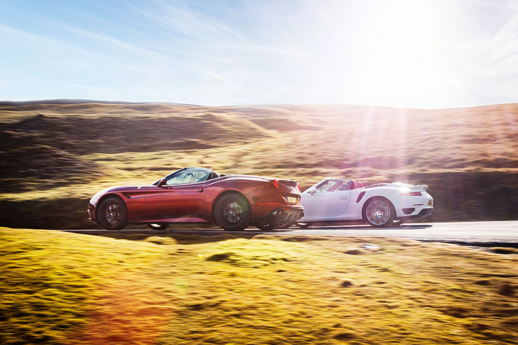Ferrari California T Takes On Porsche 911 Turbo S Convertible Photographed For CAR By Mark Bramley