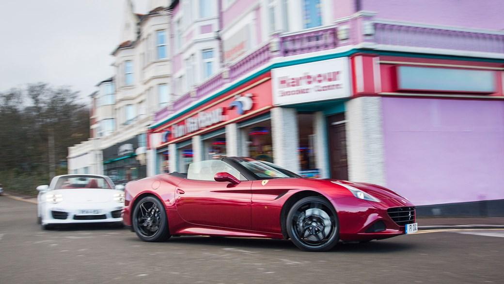 porsche 911 turbo s cabrio vs ferrari california t twin test review rh carmagazine co uk Circuit Breaker Box Home Fuse Box