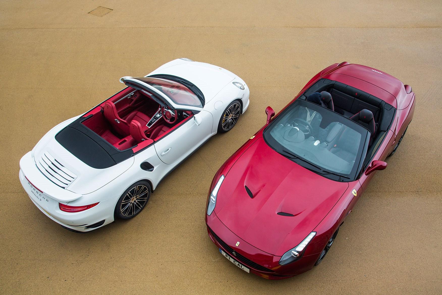 porsche 911 turbo s cabrio vs ferrari california t twin test review rh carmagazine co uk Breaker Box Car Fuse Box