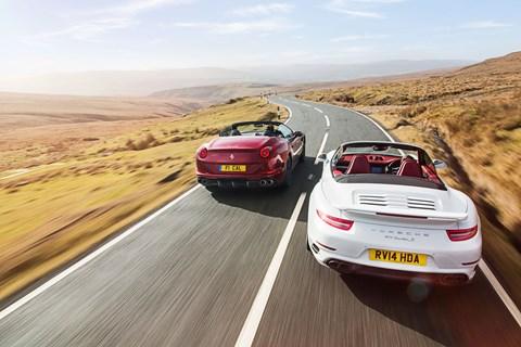 Porsche 911 Turbo S and Ferrari California T