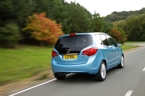 The Vauxhall Meriva, a popular MPV, takes a close second