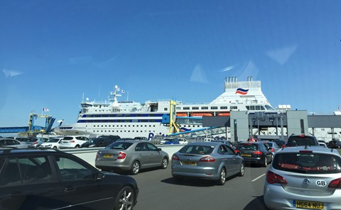 We crossed the Channel by Brittany Ferry: a good job too, with the Chunnel on strike