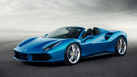 The new Ferrari 488 Spider, roof down